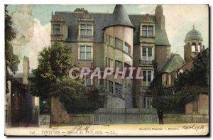 Old Postcard Poitiers House the XVI century