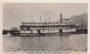 1952, RPPC: Steamer Tutshi, W.P.Y.R., Cancross, Yukon, See Remark (PC1367)