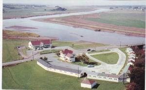 Aerial View, Salmon River, Motel, TRURO, Nova Scotia, Canada, 40-60´s