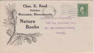 CHARLES K REED, Publisher for NATURE BOOKS - LOGO of PINE CONES  Worcester 1920s