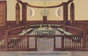 Virginia Williamsburg House Of Burgesses In The Capitol