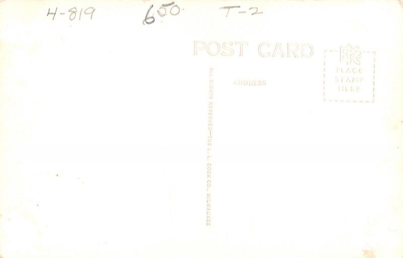 Red Oak IA~First Presbyterian Church~Business District: Speed Limit 15~1940 RPPC