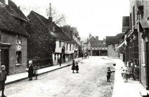 Reproduction Vintage c1882-95 Postcard, Bridge Street, Hitchin, Hertfordshire 3U