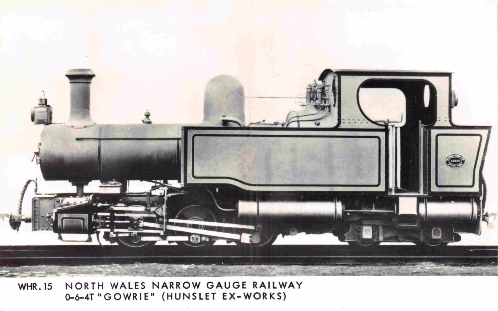 Postcard GOWRIE 0-6-4T Steam Locomotive North Wales Narrow