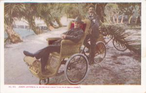 PALM BEACH, Florida, 1901-07 ; Joseph Jefferson in Bicycle Chair