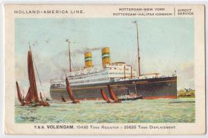 Holland-America Line, Steamer T.S.S. Volendam