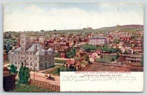 Duluth Minnesota~Birdseye Upwards~Post Office & Beyond~Homes~Garden~1910 PC