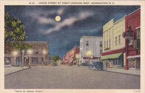 North Carolina Union Street At Night Looking West