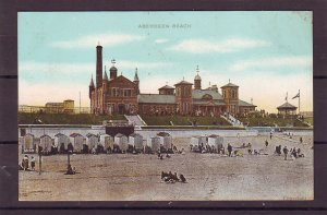 P1480  old unused postcard aberdeen beach scene england nice condition