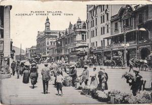 CAPE TOWN , S.A. , PU-1906 ; Flower Sellers , Addeerley Street