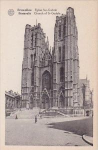 Belgium Brussells Bruxelles Church Of Saint Gudeule