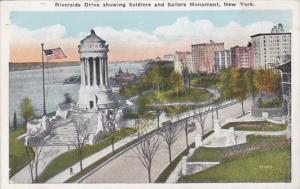 New York City Riverside Drive Showing Soldiers and Sailors Monument
