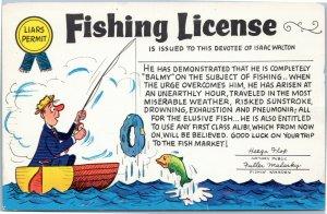 Fishing License Liars Permit Isaac Walton - Greetings from Northern Ontario