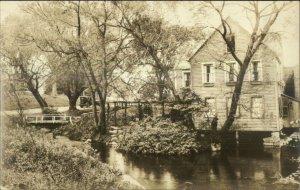 Sandwich Cape Cod MA Water Mill Real Photo Postcard