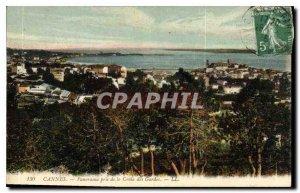 Old Postcard Panorama Cannes taken Croix des Gardes