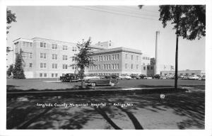 Antigo Wisconsin~Langlade County Memorial Hospital~Classic Cars & Truck~50s RPPC