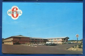 Fort Worth Texas tx Motel 6 located 5701 Highway South Freeway chrome postcard