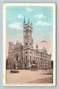 Philadelphia PA-Pennsylvania, Masonic Temple, Vintage c1917 Postcard