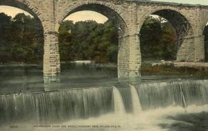 PA - Philadelphia. Fairmount Park, Wissahickon Creek and Bridge