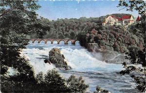 Switzerland Rheinfall mit Schloss Laufen Bridge Pont Castle