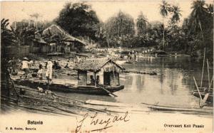 INDONESIA PC DUTCH INDIES - JAKARTA - Batavia - Overvaart Kali Passir (a1767)