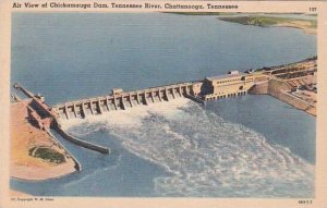 Tennesse Chattanooga Air View Of Chickamauga Dam Tennessee River