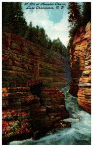 New York   Ausable Chasm Lake Champlain