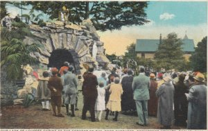 EUCLID, OH, 1910s; Service at Our Lady of Lourdes Shrine at the Convent of th...
