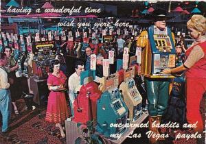 Nevada Las Vegas The Mint Gambling Casino One Armed Bandits 1978