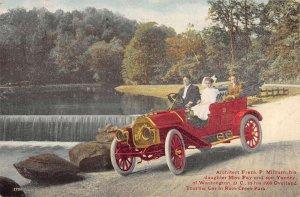 Washington DC Rock Creek Park Architect Milburn in Touring Car Postcard AA20175