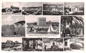 Spain Old Vintage Antique Post Card Mediterraneo Gran Hotel Postal Used Unkno...