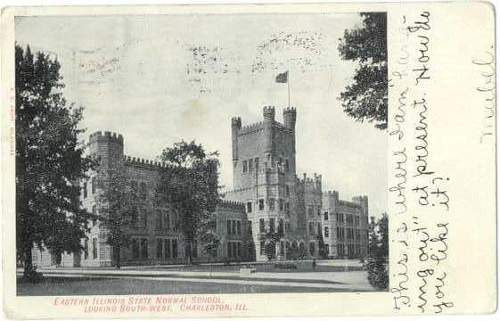 Eastern Illinois State Normal School, Charleston, IL, 1908 Divided Back