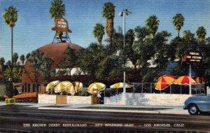 California Los Angeles The Brown Derby Restaurant Curteich