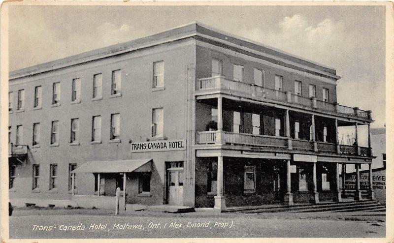 Canada Ontario Postcard 1933 Mattawa Trans Hotel 144