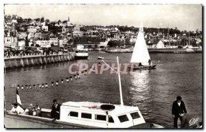 Old Postcard Deauville Trouville L & # 39entre Port Boat