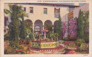 A Spanish Moorish Type Fountain And Patio Florida