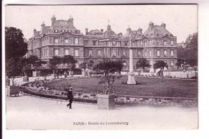 Man in Front of Luxembourg Palace, Paris, France B&W