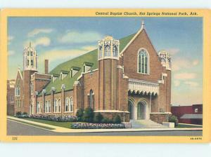 Unused Linen CHURCH SCENE Hot Springs National Park Arkansas AR hs7340