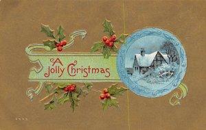 Christmas Post Card Antique Xmas Postcard Unused