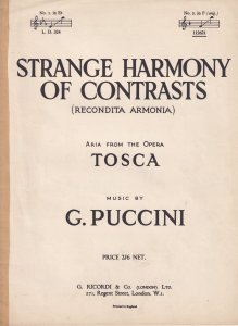 Strange Harmony Of Contrasts Puccini Classical Sheet Music