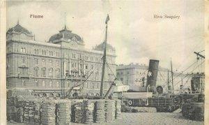 Postcard Croatia Fiume Riva Szapary