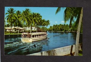 FL River Cruise Flamingo II Miami Beach Ft Fort Lauderdale Florida Postcard