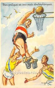 Old Vintage Basketball Postcard Post Card Basketball Springs Unused