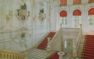 Tower Of Pushkin Catherine Palace Staircase Leningrad Russia Postcard
