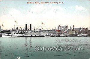 Hudson River Steamers at Albany NY USA Ship 1908 light wear on front, minor c...