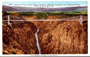 Colorado Panoramic View Royal Gorge Suspension Bridge Highest Bridge In The W...