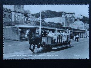 Isle of Man DOUGLAS Toast Rack Tram HORSE DRAWN c1955 RP Postcard by Valentine