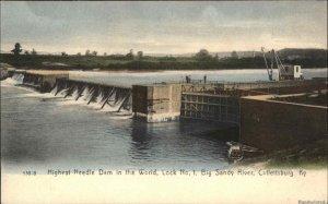 Catlettsburg NY Highest Needle Dam in World c1905 Rotograph Postcard