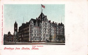 Greetings From Boston, Massachusetts, Early Postcard, Undivided Back, Unused