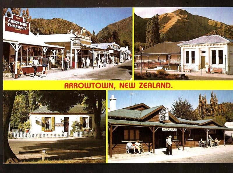 NEW ZEALAND POSTCARD ARROWTOWN -ROYAL OAK HOTEL-MAIN STREET-